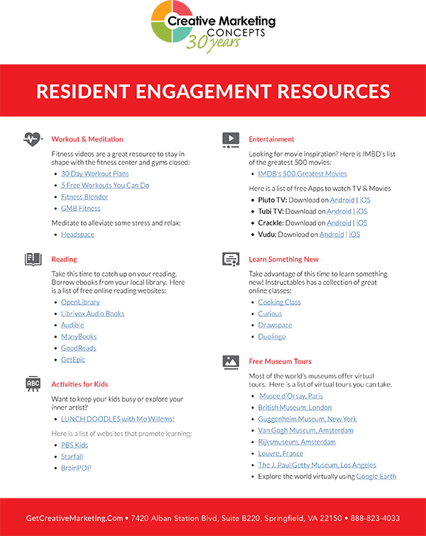 Resident Engagement Resources